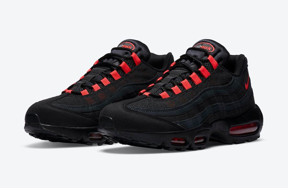 Nike Air Max 95 Black Laser Crimson DA1513-001 Release Date Info