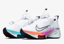 Nike Air Zoom Tempo NEXT% FlyEase White Flash Crimson Spruce Aura CV1889-102 Release Date Info