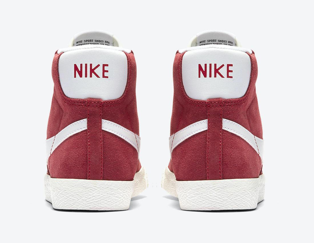 Nike Blazer Mid 77 Kids Gym Red DA4672-600 Release Date Info