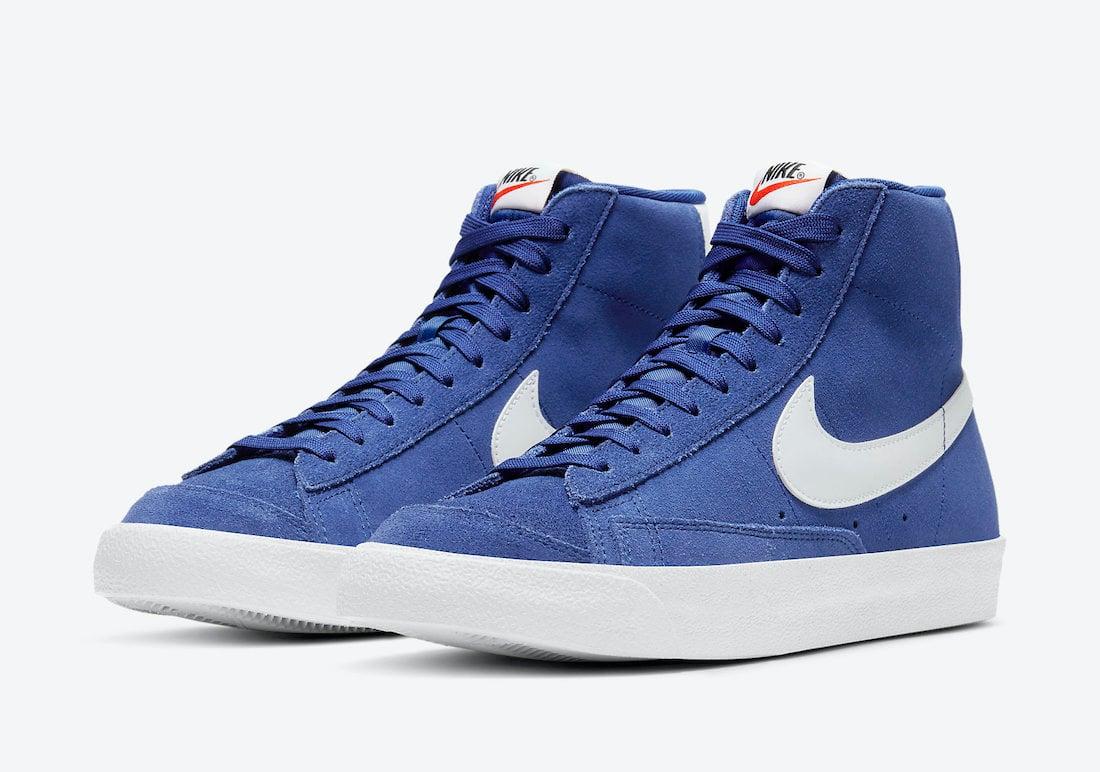 Nike Blazer Mid 77 Suede Deep Royal Blue CI1172-402 Release Date Info