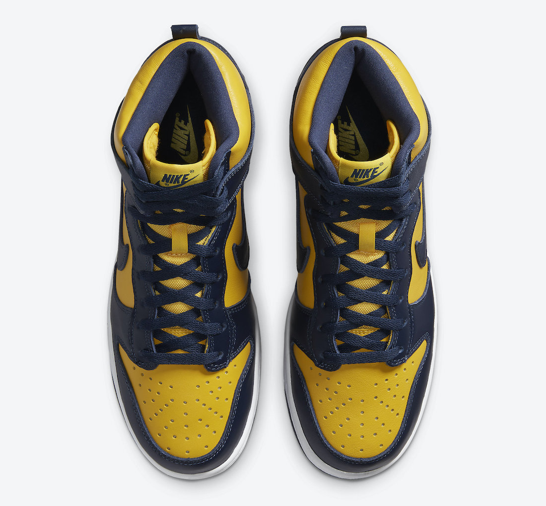 Nike Dunk High Michigan CZ8149-700 Release Details