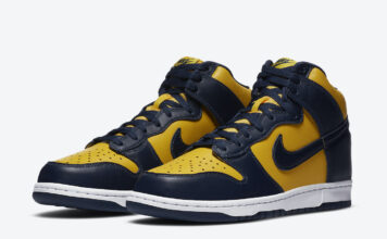 Nike Dunk High Michigan CZ8149-700 Release Details
