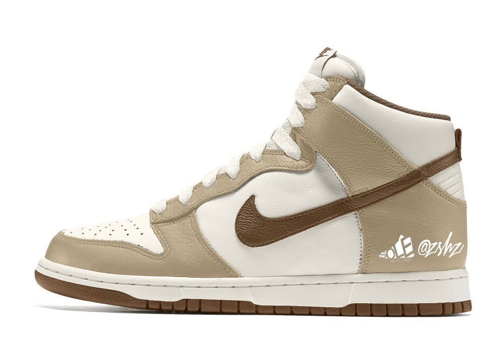 Nike Dunk High Sail Khaki Light Chocolate DH5348-100‬ Release Date Info