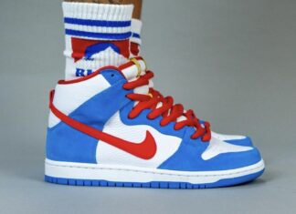 Nike SB Dunk High Doraemon CI2692-400 On Feet