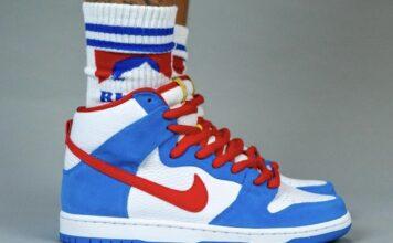 Nike SB Dunk High Doraemon CI2692-400 On Feet