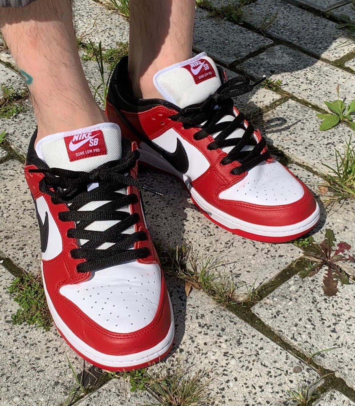 Nike SB Dunk Low Chicago BQ6817-600 On Feet