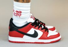 Nike SB Dunk Low Pro Chicago On Feet BQ6817-600