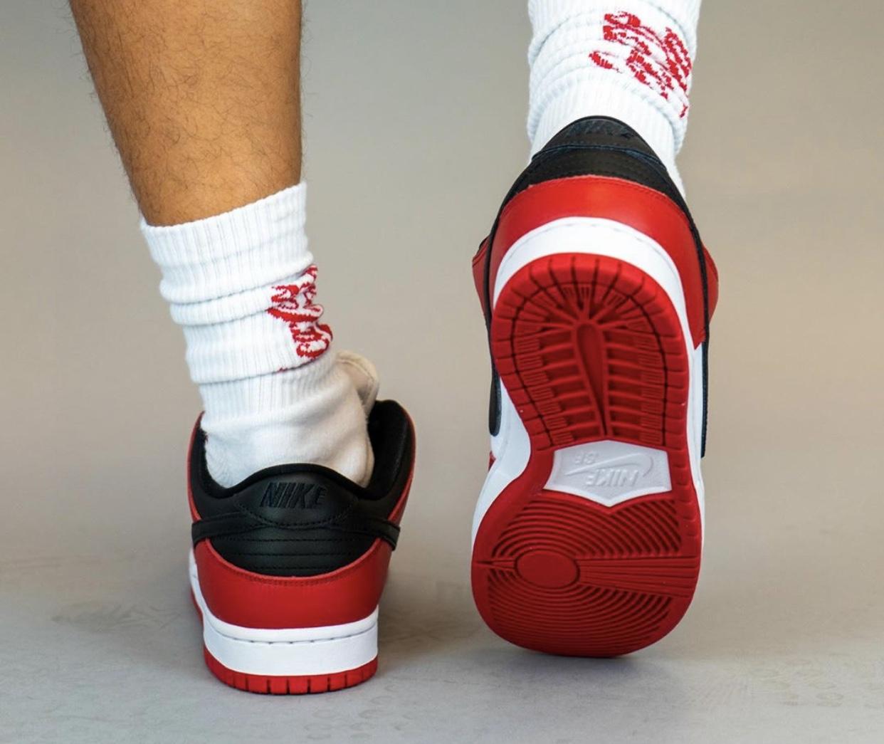 Nike SB Dunk Low Pro Chicago On Feet BQ6817-600