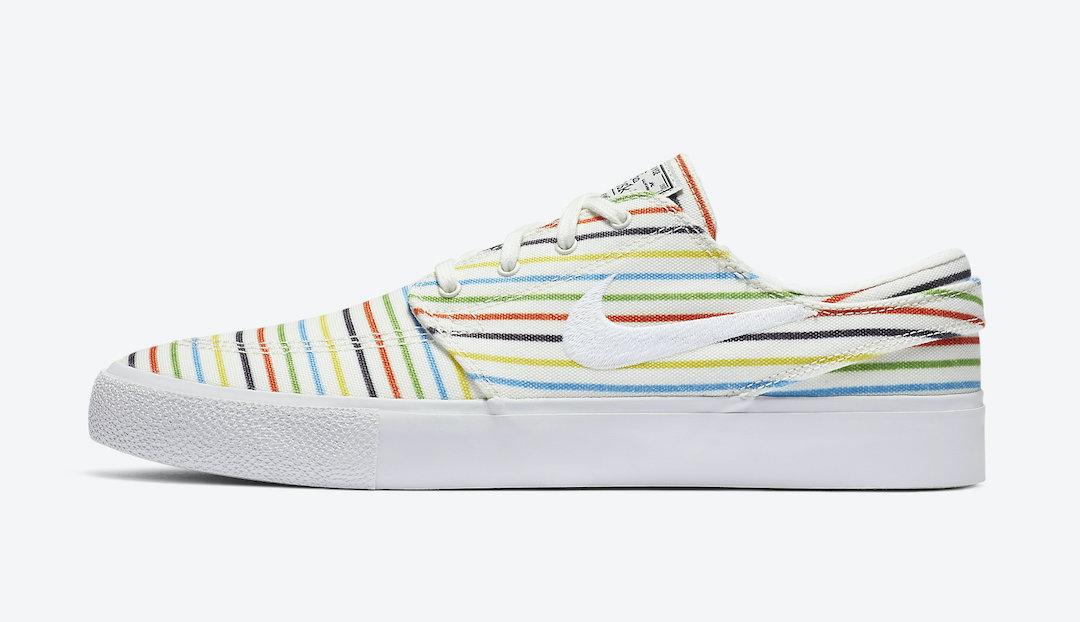 Nike SB Zoom Stefan Janoski Canvas Multi Stripes AQ7878-100 Release Date Info