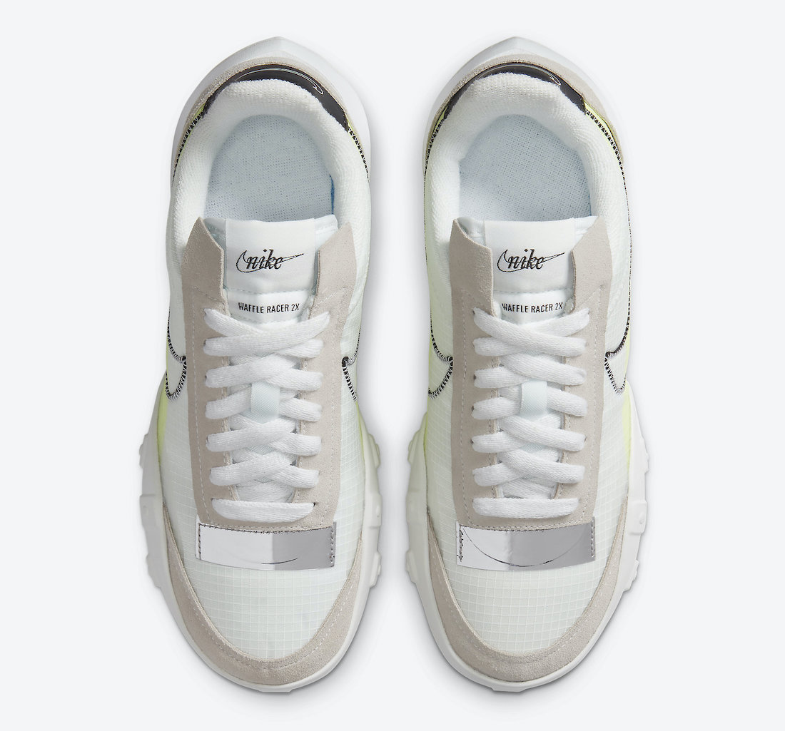Nike Waffle Racer 2X Summit White Volt DC4467-100 Release Date Info