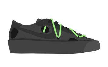 Off-White Nike Blazer Low Black Green Release Date Info
