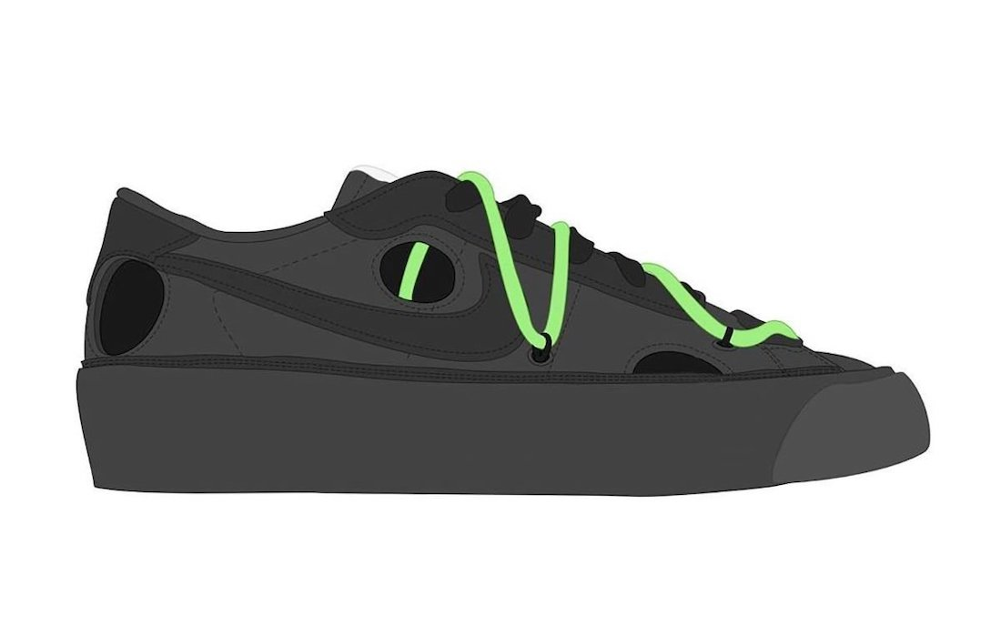 Off-White Nike Blazer Low Black Green Release Date Info
