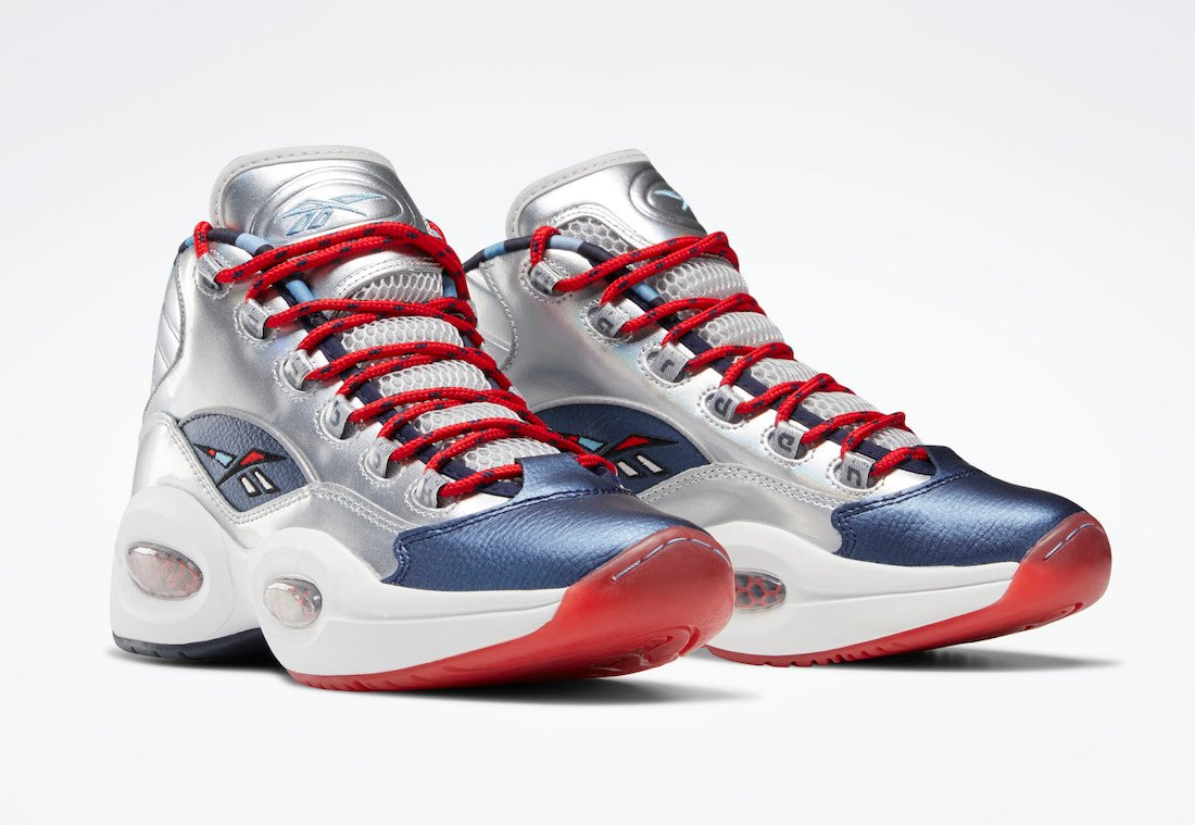 Reebok Question Mid OG Meets OG Silver Navy Red FZ1366 Release Date