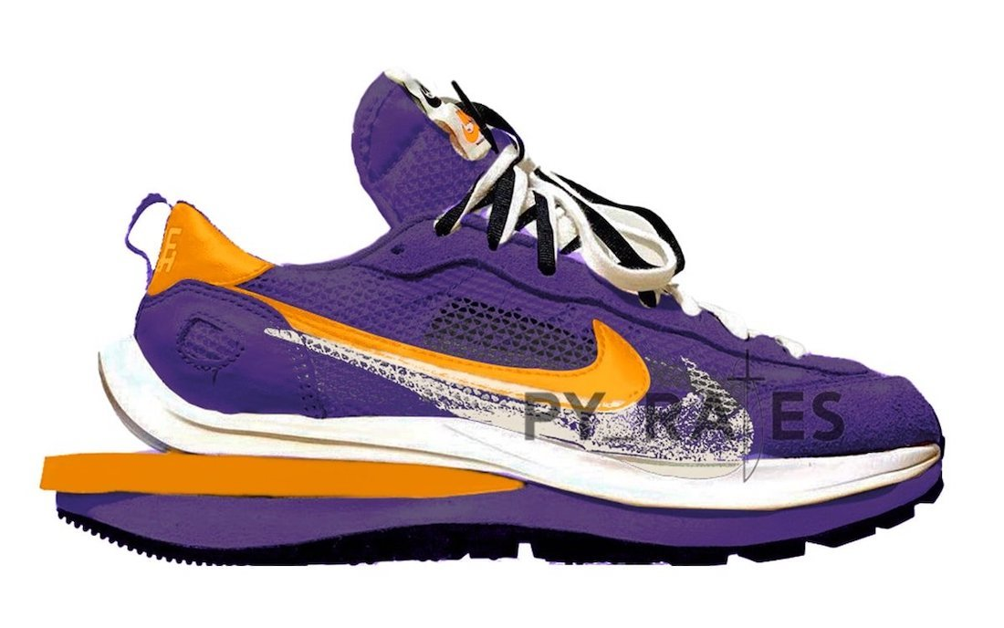 sacai Nike VaporWaffle Dark Iris Campfire Orange White Release Date Info