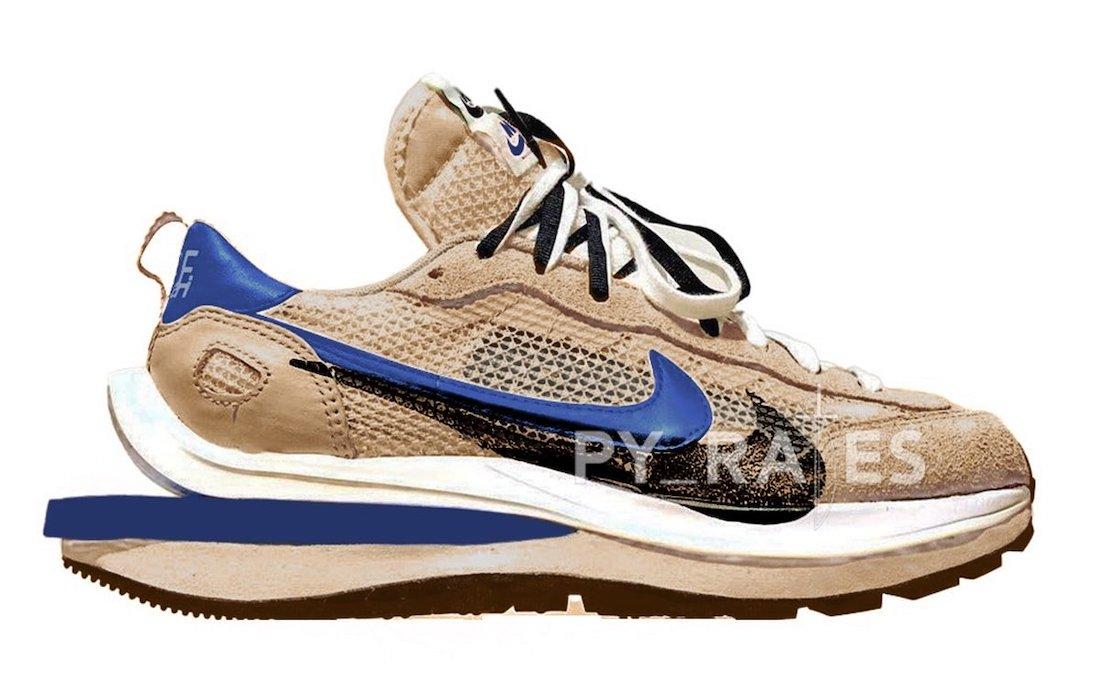 sacai Nike VaporWaffle Sesame Blue Void White Release Date Info