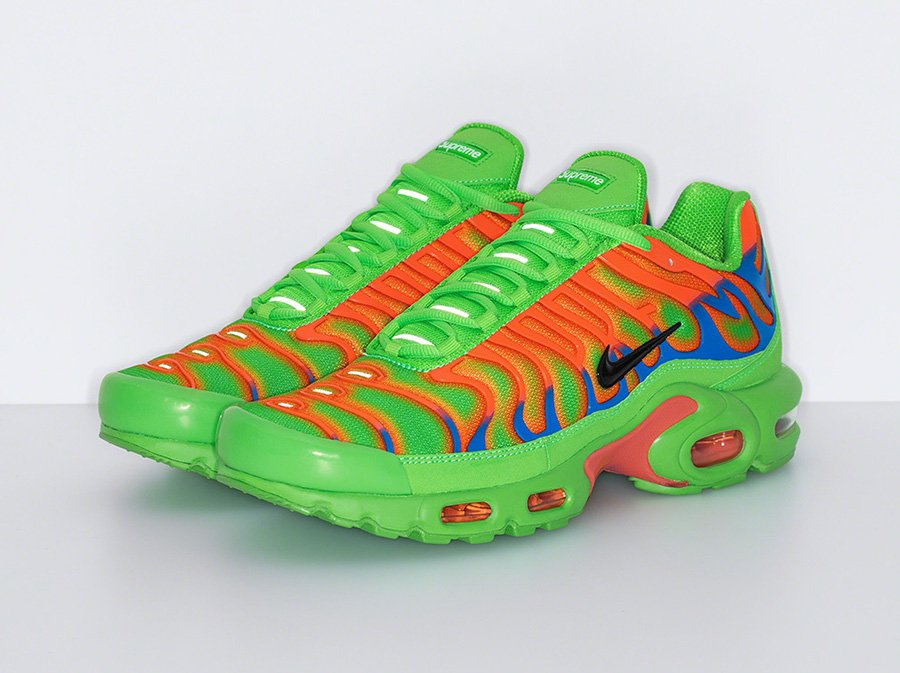 Supreme Nike Air Max Plus Green Orange Release Date