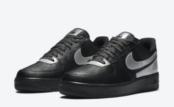 3M Nike Air Force 1 Low Black Silver CT2299-001 Release Date Info