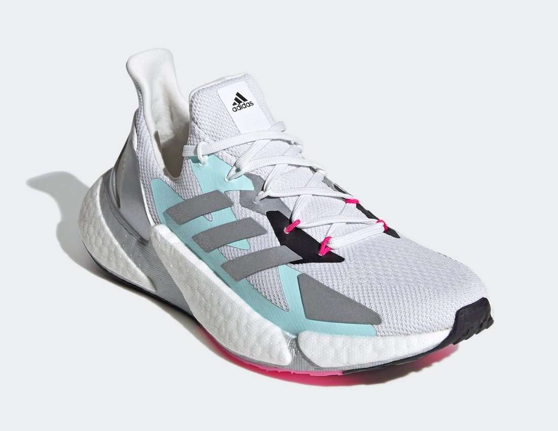 adidas X9000L4 White Silver Teal Blue FW8405 Release Date Info