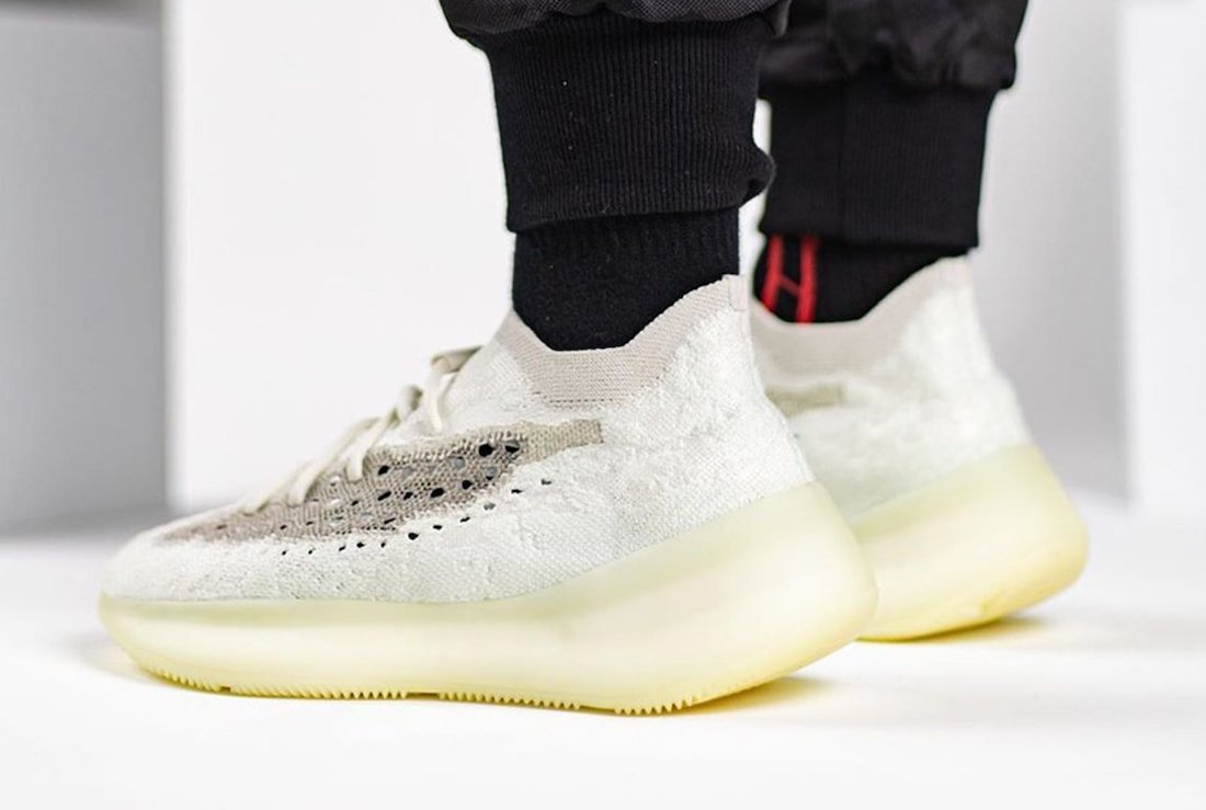 adidas Yeezy Boost 380 Calcite Glow On Feet