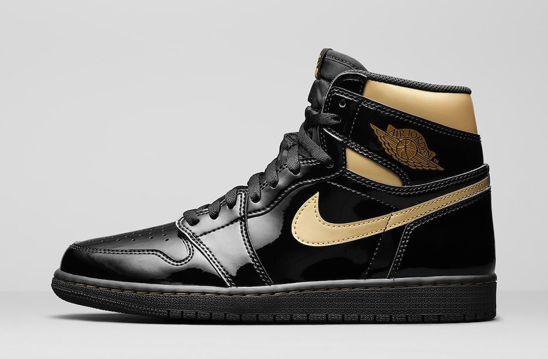 Air Jordan 1 High OG Black Gold 555088-032