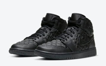 Air Jordan 1 Mid Black Quilted DB6078-001 Release Date Info