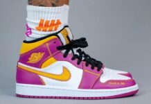 Air Jordan 1 Mid Familia DC0500-100 On Feet