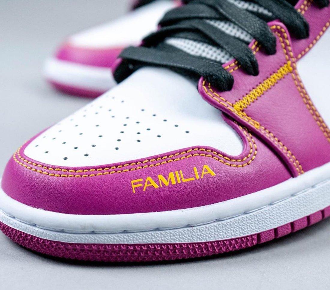 Air Jordan 1 Mid Familia DC0500-100 On Feet