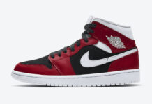 Air Jordan 1 Mid WMNS Gym Red White Black BQ6472-601 Release Date Info