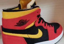 Air Jordan 1 Zoom Comfort Black Chile Red White University Gold CT0978-006
