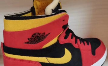 Air Jordan 1 Zoom Comfort Black Chile Red White University Gold CT0978-006