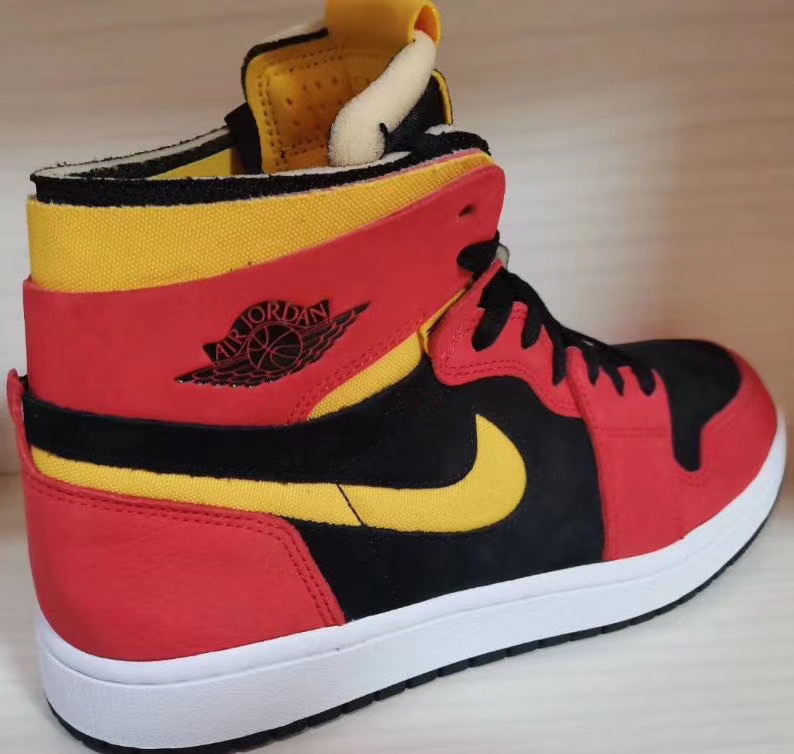 Air Jordan 1 Zoom Comfort Black Chile Red White University Gold CT0978-006 Release Date Info