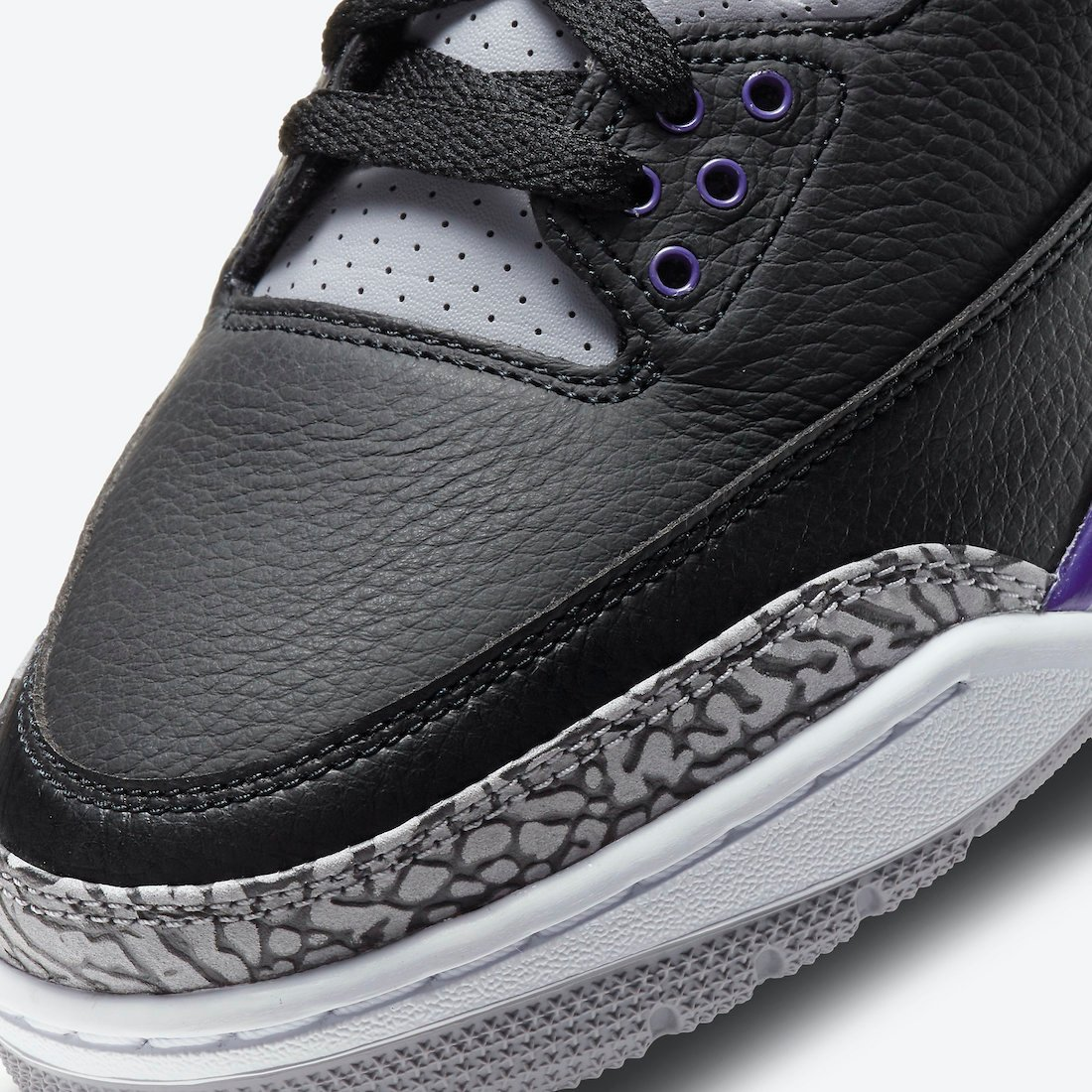 Air Jordan 3 Black Court Purple CT8532-050