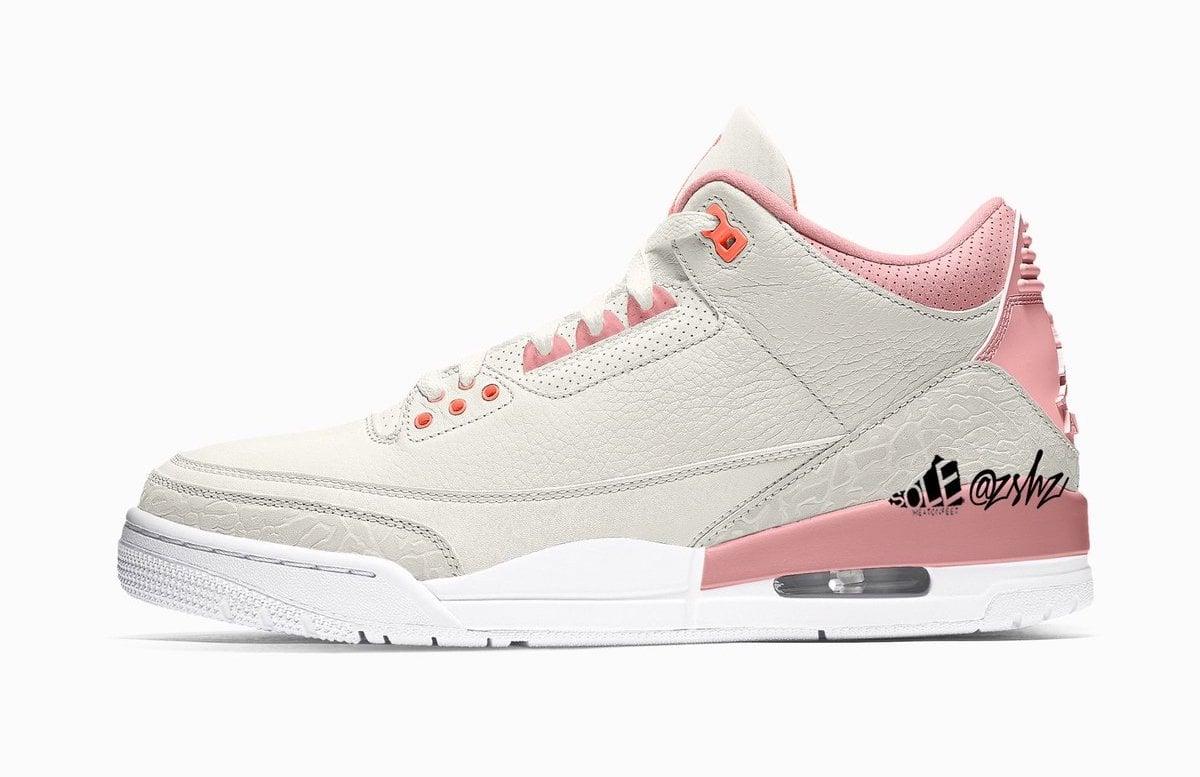 Air Jordan 3 WMNS Sail Rust Pink White Crimson CK9246-116 Release Date Info