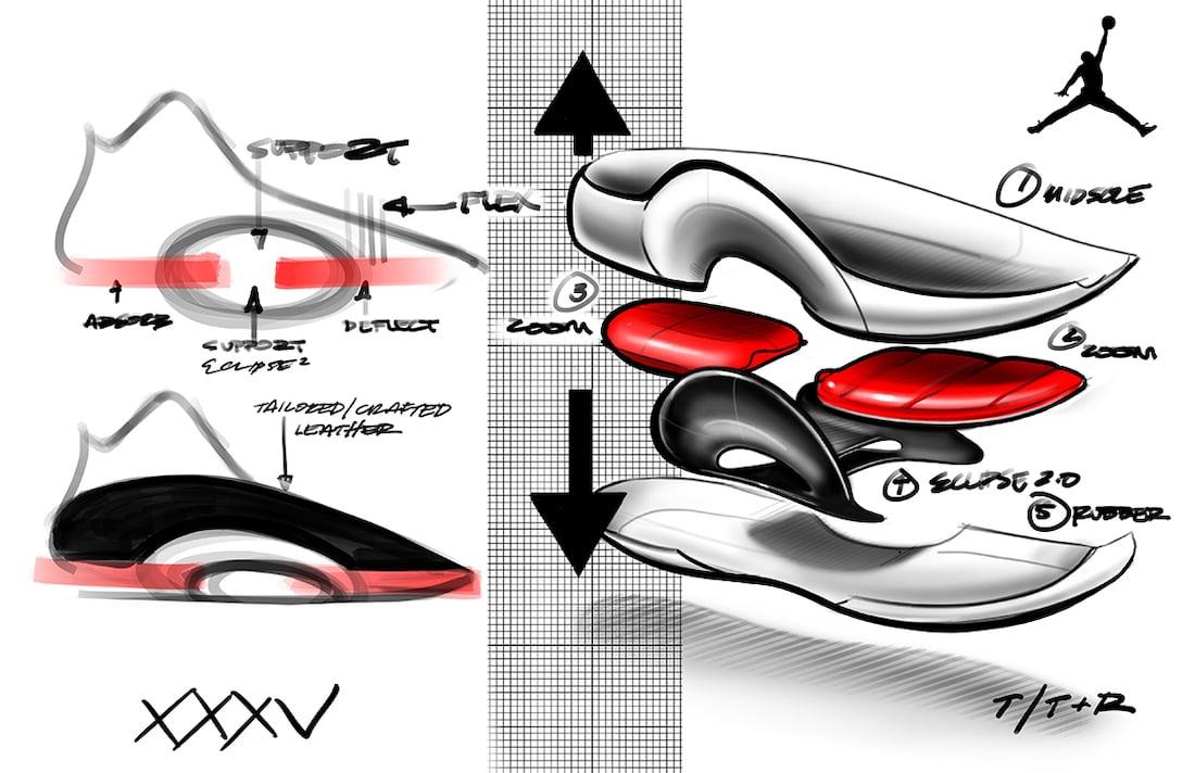 Air Jordan 35 Sketch