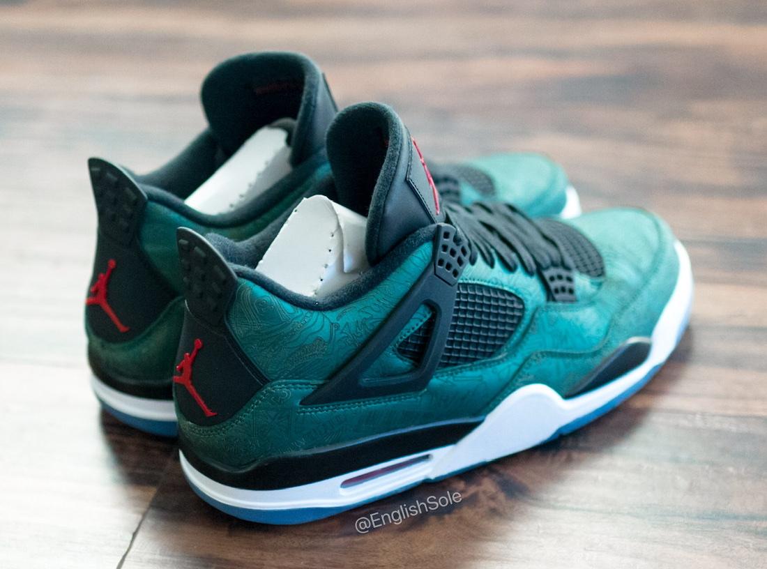 Air Jordan 4 Green Laser