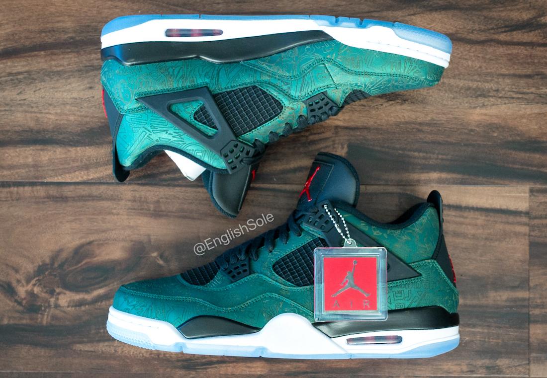 Air Jordan 4 Green Laser Sample