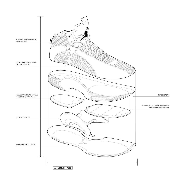 Air Jordan 35 XXXV Sketch