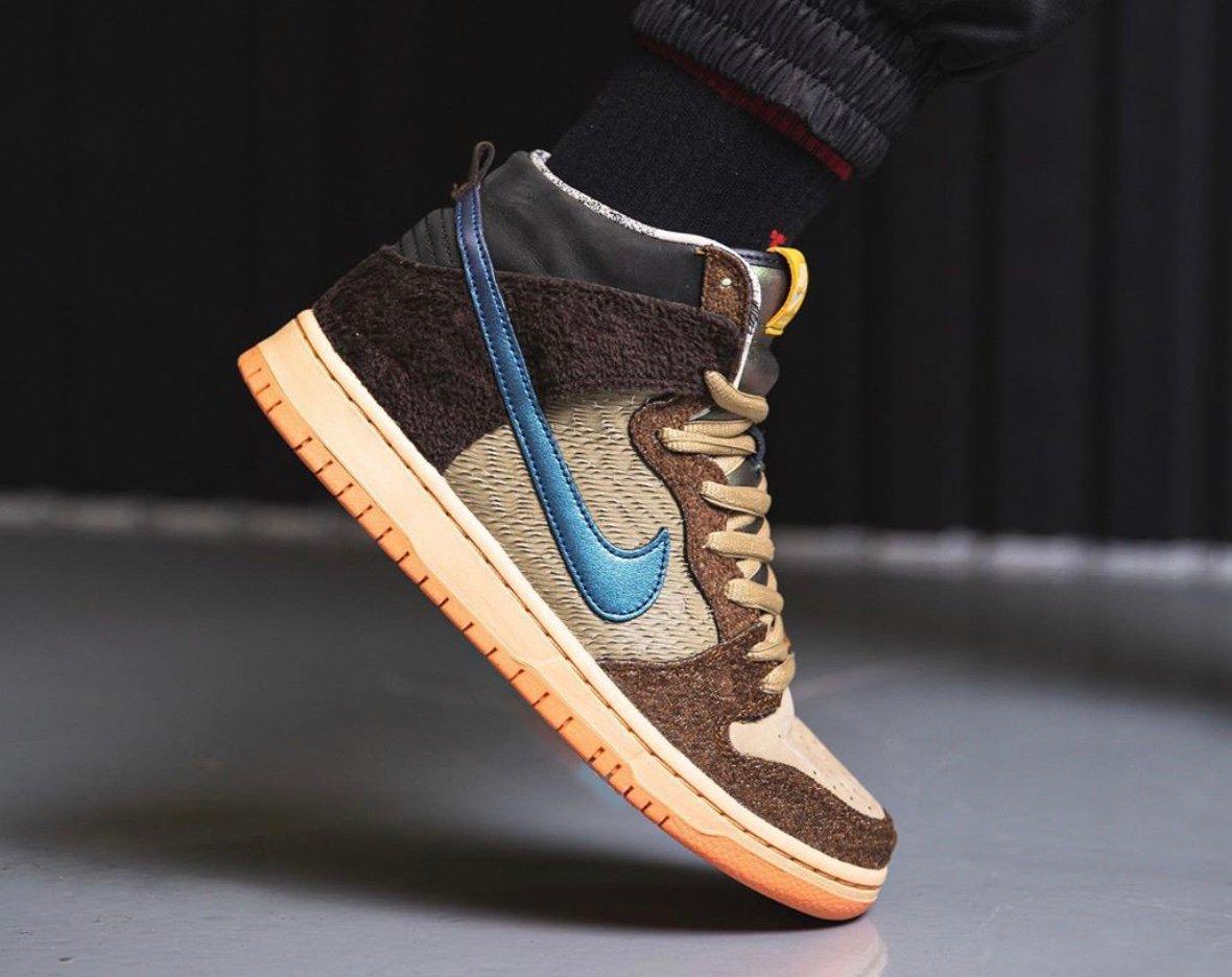 Concepts Nike SB Dunk High Duck On Feet