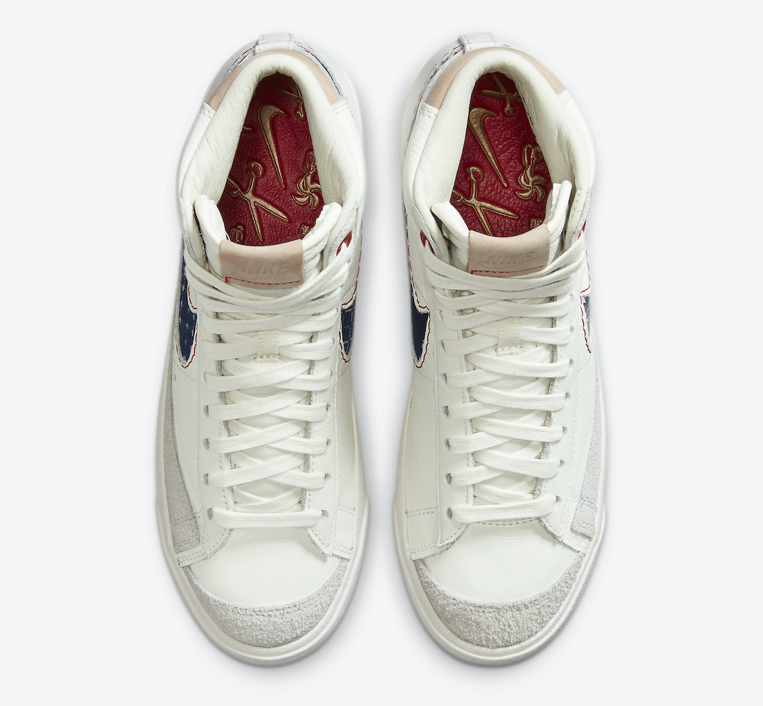 Denham Nike Blazer Mid CU8054-100 Release Date Info
