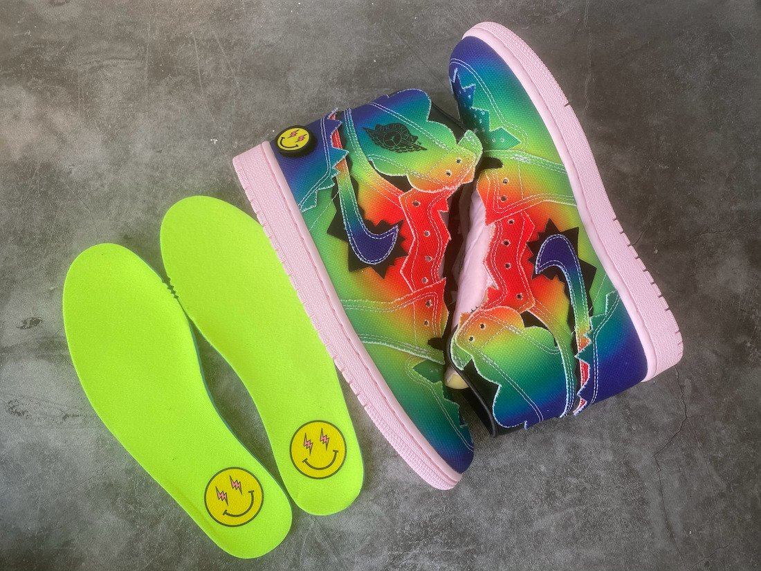 J Balvin Air Jordan 1 DC3481-900 Release Packaging