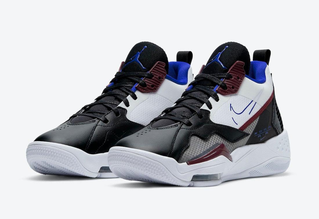 Jordan Zoom 92 White Black Blue Burgundy CK9184-004 Release Date Info