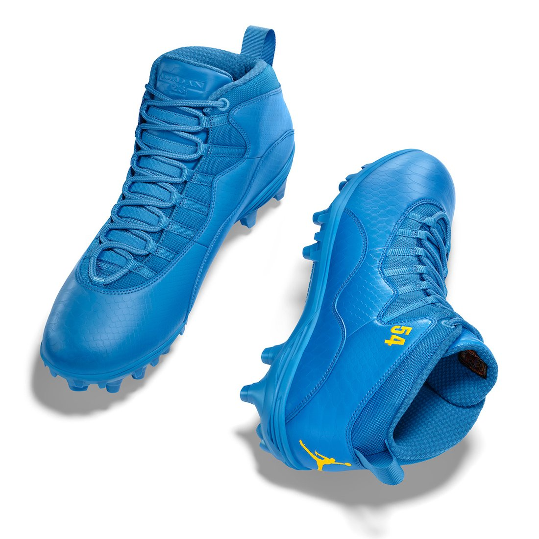 Melvin Ingram Air Jordan 10 NFL 2020 PE Cleats