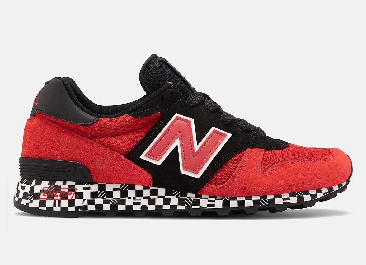 New Balance 1300 Red Black Checkered Flag Midsole Release Date Info