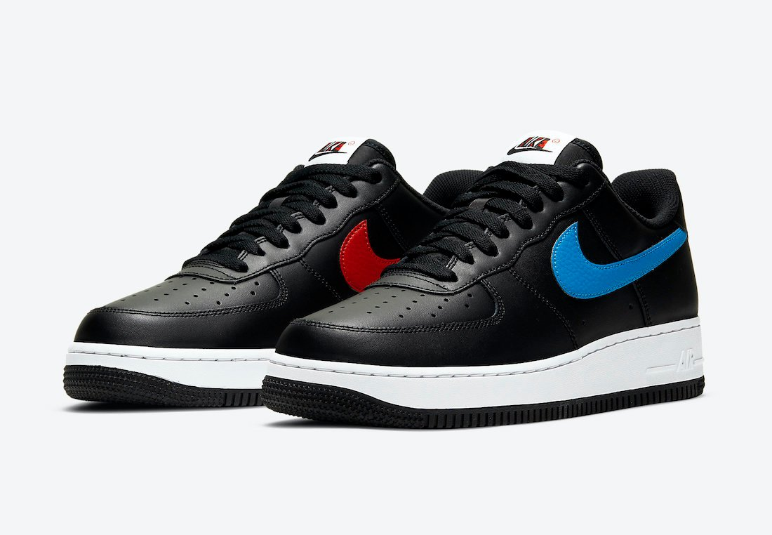 Nike Air Force 1 Black University Red Photo Blue CT2816-001 Release Date Info