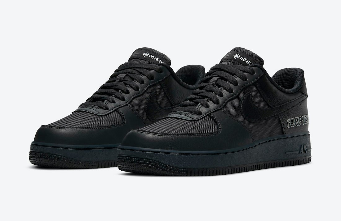 Nike Air Force 1 Gore-Tex Anthracite Black CT2858-001 Release Date Info