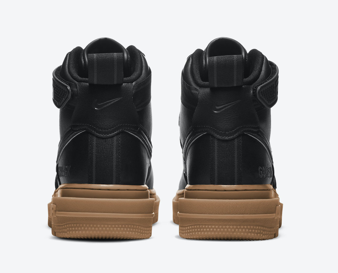 Nike Air Force 1 Gore-Tex Boot Black Gum CT2815-001 Release Date Info