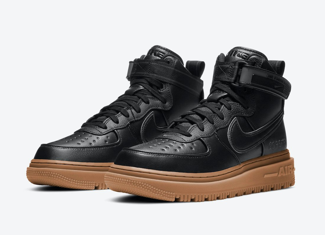 aliviar Despido Rizado  Nike Air Force 1 Gore-Tex Boot Black Gum CT2815-001 Release Date Info |  SneakerFiles