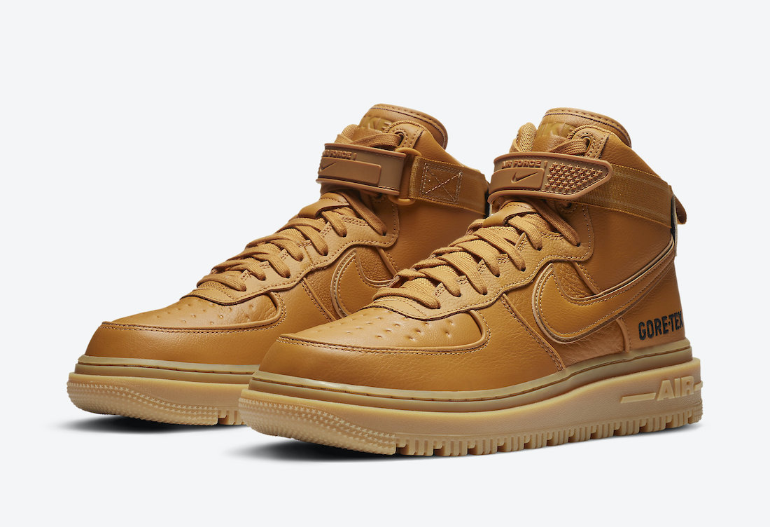 Nike Air Force 1 Gore-Tex Boot Wheat Flax CT2815-200 Release Date Info