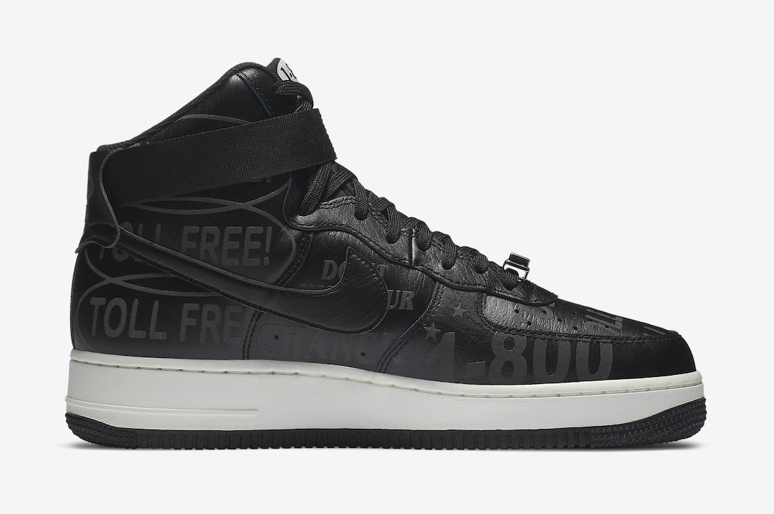 Nike Air Force 1 High Toll Free CU1414-001 Release Date Info
