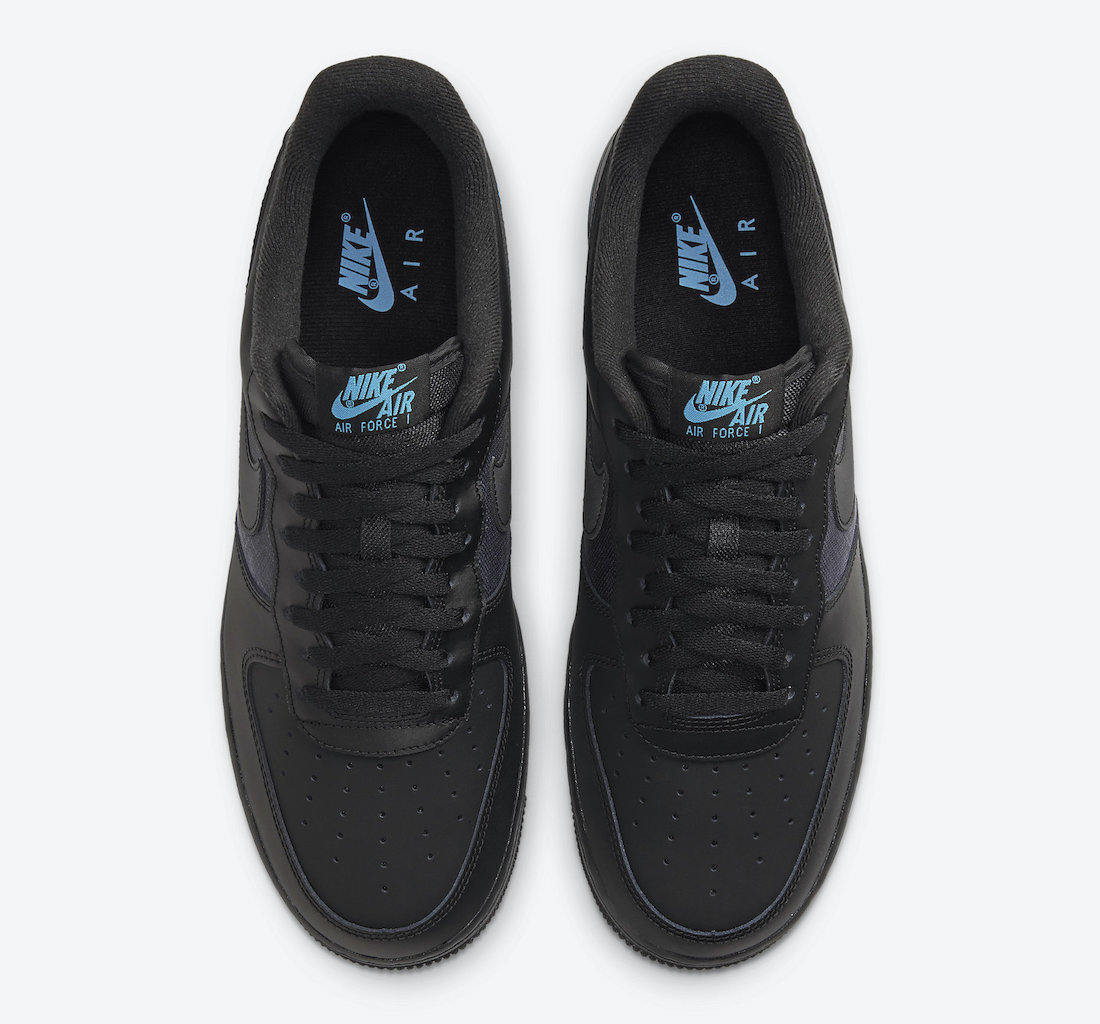 Nike Air Force 1 Low Hexagon Black Blue DH2475-001 Release Date Info